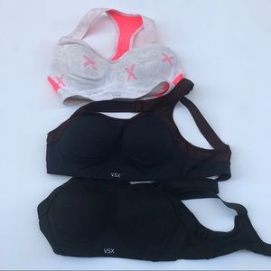VSX Victoria Secret Sports Bra Bundle 34B